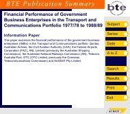 PDF: 7881 KB - Bureau of Infrastructure, Transport and Regional ...