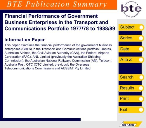 PDF: 7881 KB - Bureau of Infrastructure, Transport and Regional ...