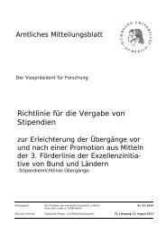 Richtlinie für die Vergabe von Stipendien - Amtliches Mitteilungsblatt ...