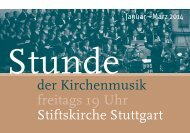 Stunde der Kirchenmusik - Programm Januar bis März ... - Bach : vokal