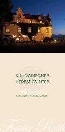 Kulinarischer Kalender - Schlosshotel Freisitz Roith am Traunsee