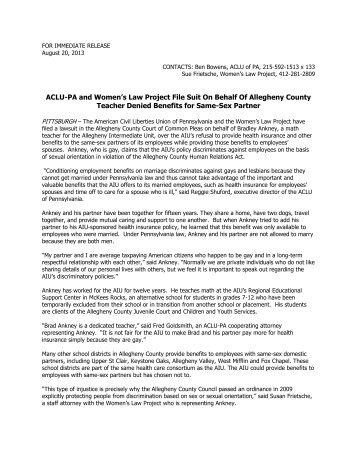 Press Release - Women's Law Project
