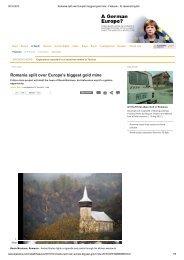 Romania split over Europe's biggest gold mine - Expert Forum