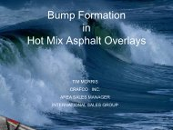 Bump Formation in Hot Mix Asphalt Overlays