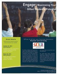Parent University Flyer - Atlanta Public Schools