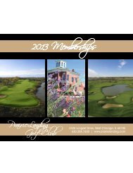 2013 Memberships - Prairie Landing Golf Club