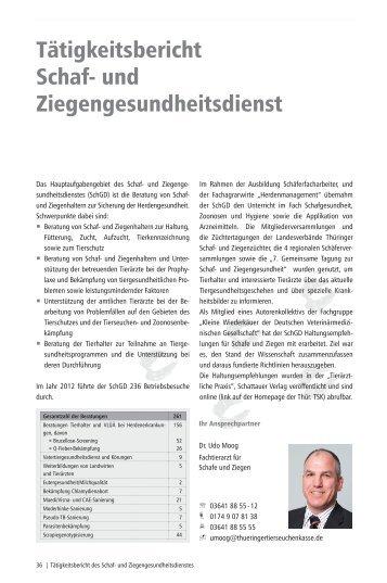 Schaf/ Ziege - Thüringer Tierseuchenkasse