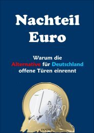 Nachteil Europa - Warum die Alternative für Deutschland of…
