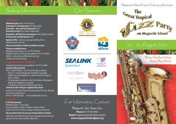 2013 Brochure download here (pdf) - Magnetic Island Jazz Festival ...