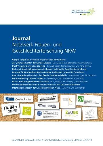 Journal Netzwerk Frauen- und Geschlechterforschung NRW Nr. 32