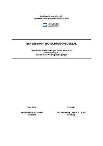 Muster-Verkaufsprospekt Super-OGAW - Universal-Investment