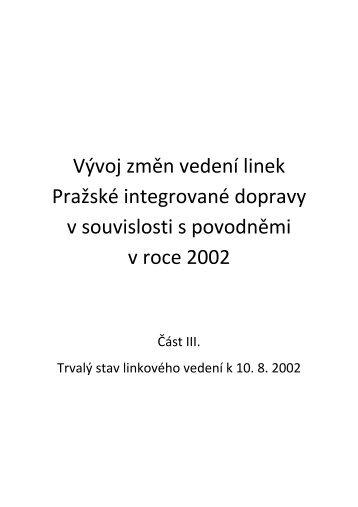 Část III. - Trvalý stav linkového vedení k 10.8. 2002 - Citybus