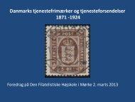 Danmarks tjenestefrimærker og tjenesteforsendelser 1871 -1924
