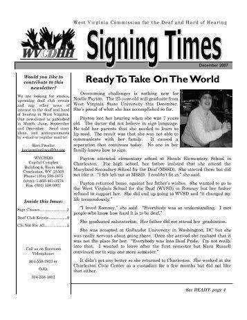 December 2007 newsletter - DHHR