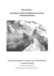 ein Künstler wirkt in Gildehaus zur Zeit des Nationalsozialismus