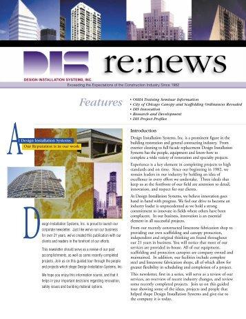 DIS Newsletter Dave 1.qxd - Design Installation Systems