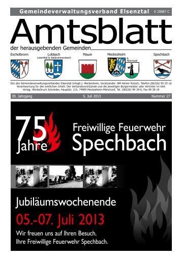 Jahre 05.-07. Juli 2013 - Gemeinde Mauer