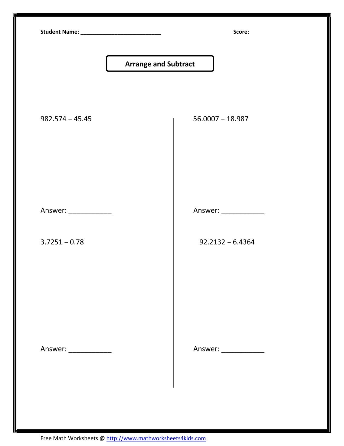 Printable 8th Grade Math Worksheets math worksheets for 8th – Eighth Grade Math Worksheets