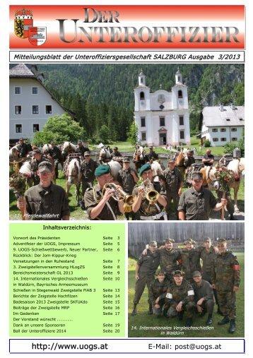Mitteilungsblatt 3/2013 ist online - Unteroffiziersgesellschaft Salzburg