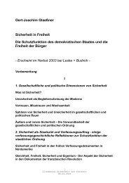 Gert-Joachim Glaeßner Sicherheit in Freiheit Die Schutzfunktion des ...