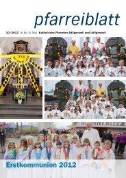 Pfarreiblatt Nr. 10/2012 - Pfarrei St. Martin Adligenswil