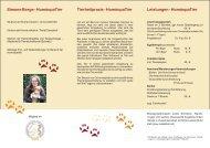 Flyer HomöopaTier Simone Berge als PDF