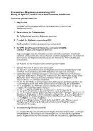 Protokoll der Mitgliederversammlung 2013