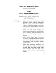 KREDIT USAHA PEMBIBITAN SAPI - Departemen Pertanian