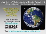 Sensitivity of Water Supply to Climate Variability - Julio Betancourt ...
