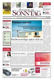 Hochwasserlage spitzt sich zu Potsdam wächst! - Potsdamer ...