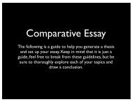 guide for comparative essay - WHS Film Festival