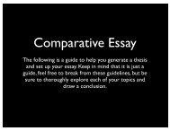 guide for comparative essay - WHS Film Festival