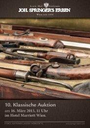 10. Klassische Auktion - Joh. Springer's Erben
