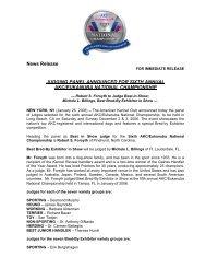 AKC/Eukanuba National Championship Crowns World's Top Dog in ...
