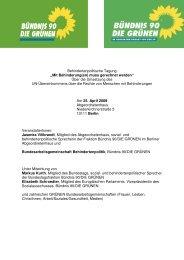 Dokumentation der behindertenpolitischen Tagung - BAGen