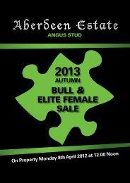 BULL & ELITE FEMALE SALE - Aberdeen Estate