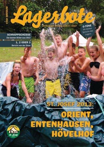 Ausgabe 2013 - Ferienlager St. Josef