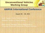 Mark Francis - American Association of Motor Vehicle Administrators