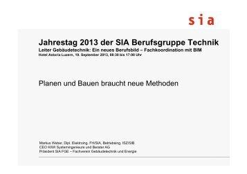 Referat Markus Weber Planung und Bauen braucht neue ... - sia