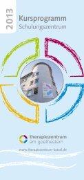 Download Kursprogramm 2013 - Therapiezentrum am Goethestern