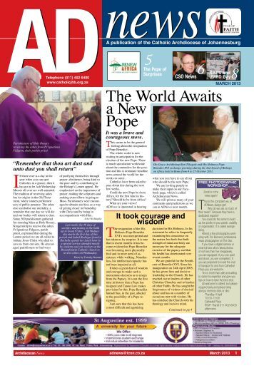 AD news - Catholic Archdiocese of Johannesburg