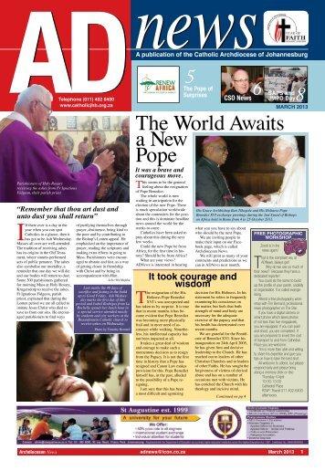 AD news - Catholic Archdiocese of Johannesburg