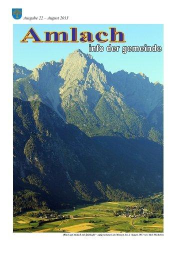 Gemeindezeitung 2013 Augus - Gemeinde Amlach