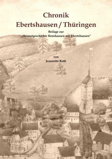 Chronik Ebertshausen - Jeannette Roth Gemeinde Benshausen in ...