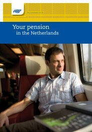 Your pension in the Netherlands - Maastricht University
