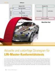 Aktuelle und zukünftige Strategien für LIN-Master ... - Vector