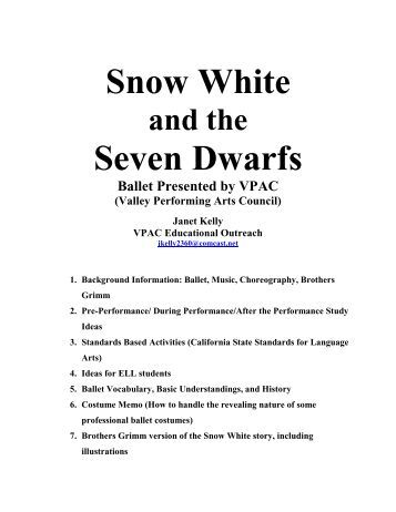 Snow White Seven Dwarfs - Valley Performing Arts Council