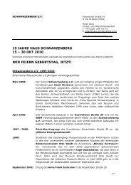 15 jahre haus schwarzenberg 15 – 30 okt 2010 wir feiern geburtstag ...