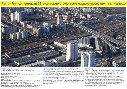 Paris - France - europan 12 INCORPORATING TOMORROW'S ...