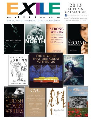 2011 Autumn Catalogue - Exile Quarterly